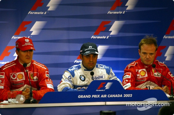 f1-canadian-gp-2002-fia-saturday-press-conference-pole-winner-juan-pablo-montoya-with-mich