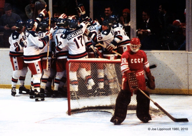 Miracle on Ice, February 22, 1980, Lake Placid, NY.